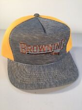 Vintage Browning Yellow/Gray Foam & Polyester Snapback Trucker Hat NWT