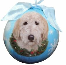 Goldendoodle Dog Christmas Snowflake Ornament Shatter Proof Ball