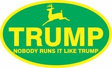 TRUMP DEERE SUPPORT STICKER FARMER MAGA ELECTION POLITICAL WINDOW BUMPER DECAL