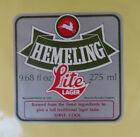 VINTAGE BRITISH BEER LABEL - HEMELING LITE LAGER 275 ML