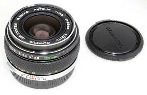 Olympus OM 35mm 1:2,8 G.Zuiko MC AUTO-W TOP & 100% CLEAN & WORKING condition B !