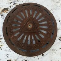 Vintage Cast Iron Grinnell Automatic Sprinkler Fire Alarm Bell Cover Steampunk