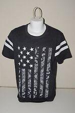 Nice Black & Gray US FLAG Hankerchief Rock Music Rocker XL T-Shirt MINT