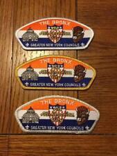 Greater New York Councils - The Bronx - Set of 3 CSP's - S-3, SA-4. SA-5, NEW
