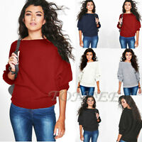 Fashion Womens Knitted Pullover Jumper Loose Tops Sweater Knitwear Excellent
