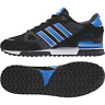 ADIDAS ZX 750 TRAINERS BLACK BRIGHT BLUE UK MENS SIZES 7 TO 12