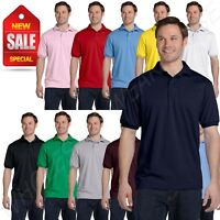 Hanes Golf Tee Blended Jersey Sport Shirt Mens Polo golf shirt from S-XL R-54