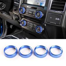 Blue Center Air Conditioner Switch Knob Cover Trim For Ford F150 XLT 2016-2020