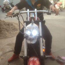 2018 Motorcycle Silver LED Skull Head Light Headlight Lamp For Harley Custom