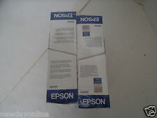 Qty-4 Epson Tri-color Ink Cartridges 300-Pages Stylus 850N  740i S020191 OEM NEW