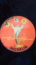 ancienne tôle métal double face MICHELIN VÉLO BIBENDUM cyclomoteur ,no émaillée