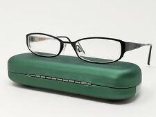 Elle Eyeglass Frames EL18763 Black Gold Metal Full Rim Rectangular 49[]18-135