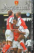 Programma di calcio-Arsenal V SHALKE 04-CHAMPIONS LEAGUE - 19/9/2001