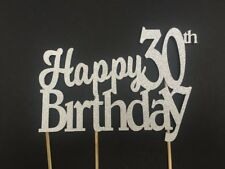 Happy 21st,30th,40th,50th,60th, Birthday Sparkling Non Shed Glitter Cake Topper