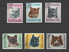 YEMEN, KINGDOM,  M: # 173-178 Used (CTO)  CATS DOMESTIC PETS