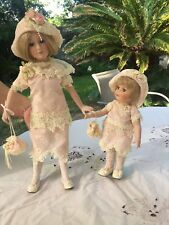 "Ashley Belle Porcelain Doll 17"" and 11"" Tall ~ Two Pieces, Mother and Daughter~."
