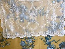"Lucinda Laura Ashley Victorian style Cream cotton lace panel 36"" x 24"" readymade"