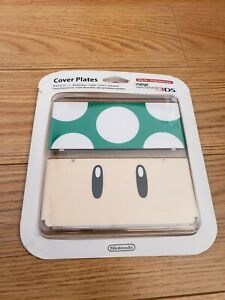 COVER PLATES FACEPLATE - FOR NEW NINTENDO 3DS - 1 UP MUSHROOM NO.008 GREEN