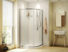 "FLEURCO 40"" x 40"" APOLLO 1/4"" GLASS SEMI-FRAMELESS ROUND SHOWER DOOR"