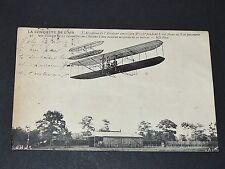 CPA 1909 AVIATION BIPLAN AVIATEUR WILBUR WRIGHT AEROPLANE PIONNIERS DE L'AIR