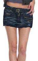 Girls Women's 6 8 10 New  Denim Blue Short Mini Skirt Ex Store Bnwt Ladies