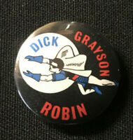 "Dick Grayson Robin 1966 Batman Vintage Pinback Button 1"" - JH463"