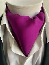 New Modern Day Silk Ascot Cravat Tie Fuchsia Purple Matte