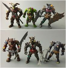 """6PCS/SET  Medieval Orc Warrior Beast Angle Gladiator Wizard Action Figures 4"""""""