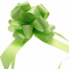 Ribbon Pull Bows 30 palm size pompom bows gift decor Lime GREEN gift tie on Easy