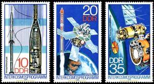 EBS East Germany DDR 1978 Intercosmos Space Program Michel 2310-2312 MNH**