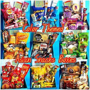 Color/Flavor Themed Asian Snack Ramen & Drink Box 25 PCS | JAPANESE KOREAN Thai