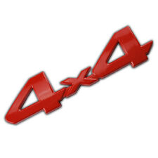 RED 4X4 EMBLEM/BADGE FOR TRUCK/SUV/PICKUP REAR TAILGATE TAIL GATE DOOR 4WD B