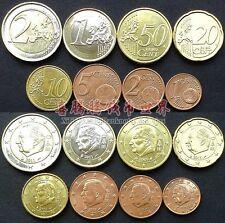 Belgium Euro Set 8 Coins, 1 2 5 10 20 50 Cent+1 2 Euro, 2002-2014, UNC