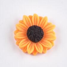 4 Sunflower Cabochons Resin Flatbacks Flower Flat Backs Daisy Findings 24mm