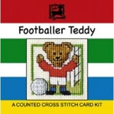 Carte football footballeur Teddy Kit point de croix par patrimoine textile mcft