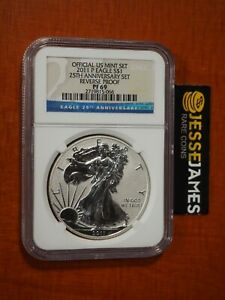 2011 P REVERSE PROOF SILVER EAGLE NGC PF69 FROM THE 25TH ANNIVERSARY SET