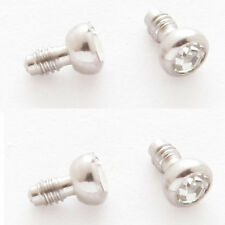 4 Pc 316L Surgical steel 14g Tiny 2MM C.Z. Dermal Anchor Heads