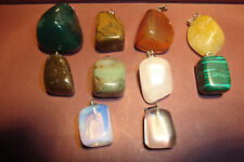 10  Peruvian Semi-Precious, Gemstone  Pendants~MPB~uk seller