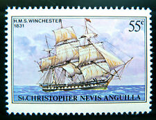 St KITTS 1980 - 55c Ships OPT Omitted SG44b U/M NEW LOWER PRICE BN1046