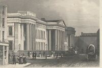 c1840 VICTORIAN PRINT ~ THE NEW POST OFFICE St MARTIN Le GRAND LONDON