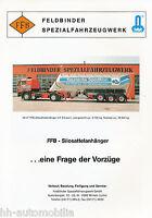 Feldbinder FFB Silosattelanhänger Prospekt 1992 brochure trailers prospectus LKW