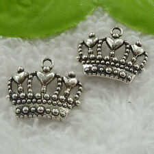Free Ship 70 pieces tibet silver crown charms 24x20mm #1179