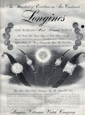 1957 Longines-Wittnauer Men Women Watch 4 models PRINT AD