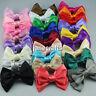 "1pc 4"" Women Girls Baby Kid Satin Ribbon Bowknot Headwear Hair Bow Hair Clip Pin"