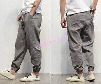 New Mens Loose Cotton pantalettes harem pants casual long Harem Trouses Leisure