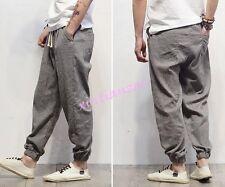 New Mens Loose Cotton pantalettes harem pants casual long Harem Trouses Leisure