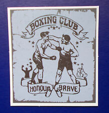 "Sticker Aufkleber Matt-Optik ""Boxing Club - Retro"" Laptop, Notebook, Stickerbomb"