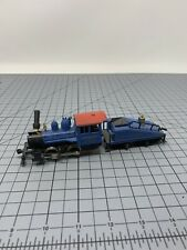 HO Train Baltimore and Ohio 0-4-0 Steam Locomotive & Tender Blue Parts As Is R09