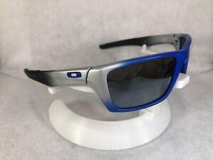 Customized Oakley Blue Silver Black Jury Sunglasses w/ Carbon Mirror Polarized