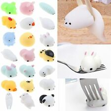 Toy Gift 10pc Random Mochi Soft Animal Squishy Squeeze Fun Kid Stress Relieved
